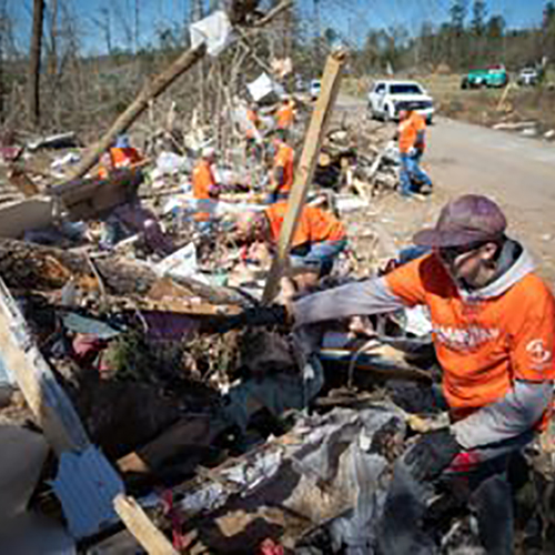 Alabama Tornado cleanup