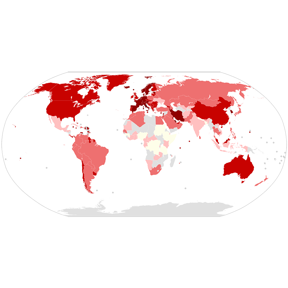 COVID-19 Outbreak World Map per Capita