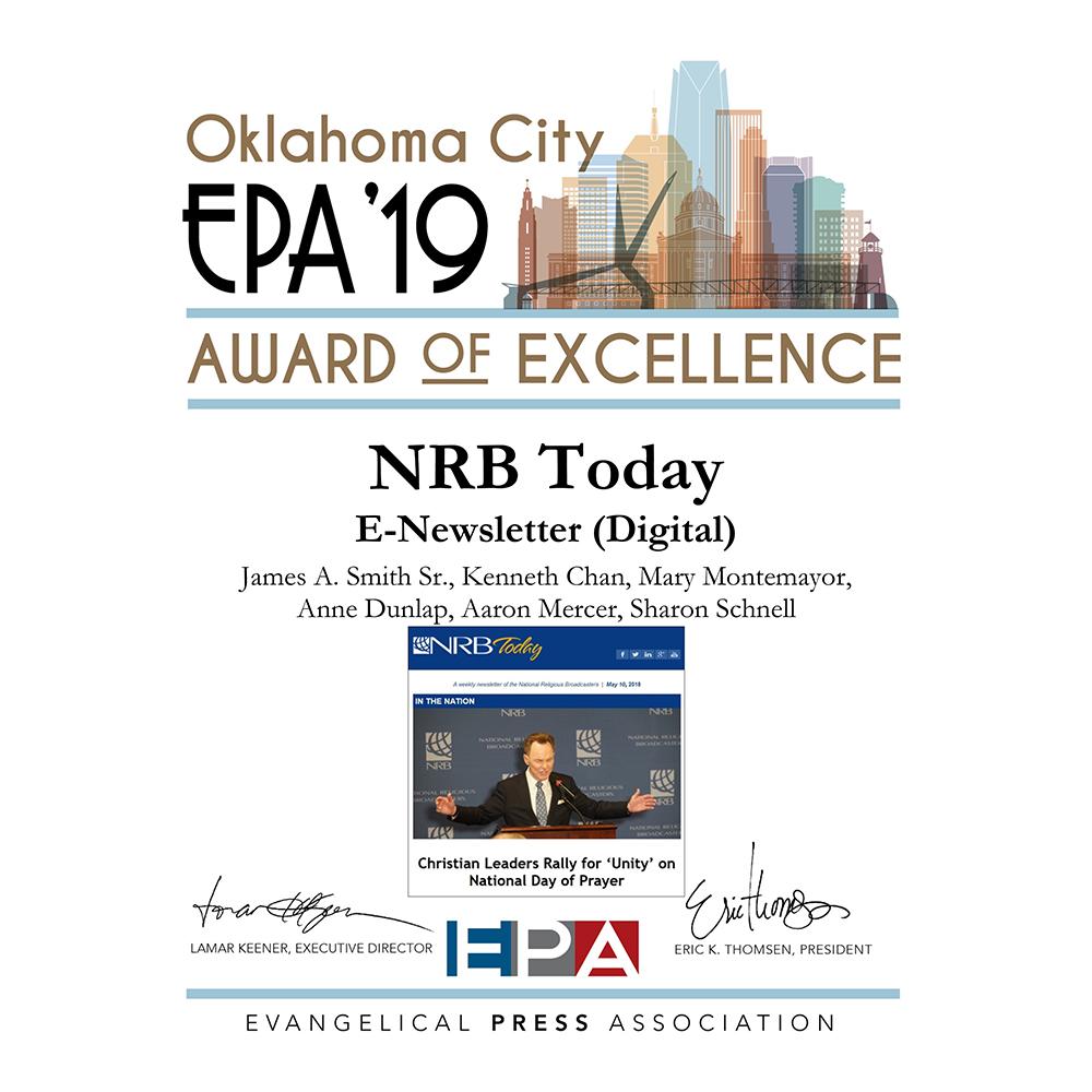 NRB Today EPA Award
