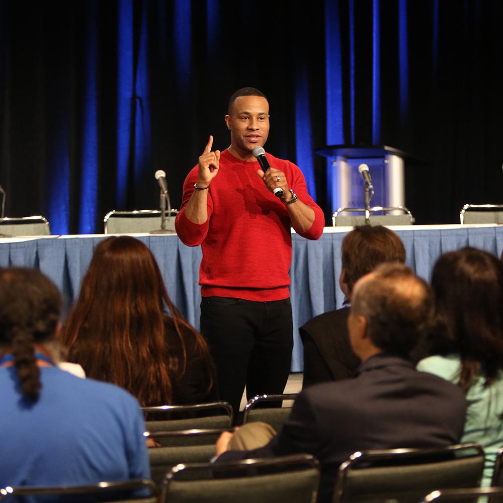 Devon speaking at Proclaim 19