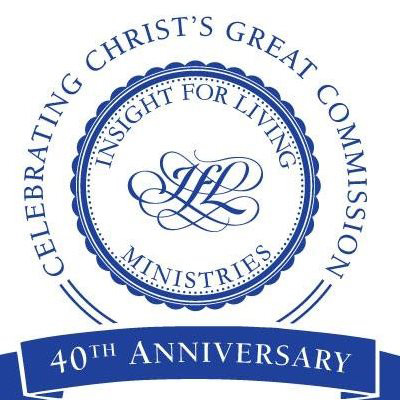 Insight For Living 40th Anniversary logo