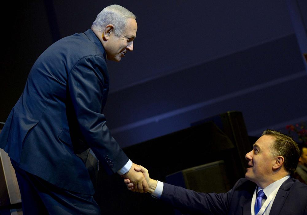 Bejamin Netanyahu and Dr. Jerry A. Johnson