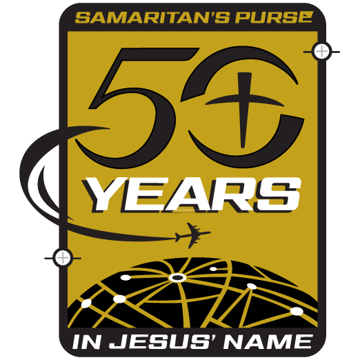 Samaritan's Purse 50th Anniversary logo