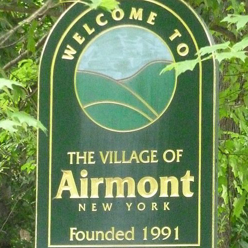Airmont Welcome sign