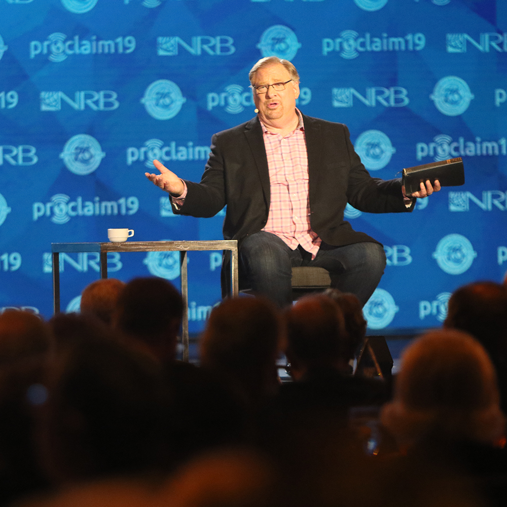 Rick Warren speaking at Proclaim 19